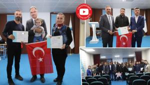 Öğretmenlere sertifikalarını Başkan Kuş verdi