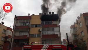 Çıkan yangını itfaiye ekipleri söndürdü