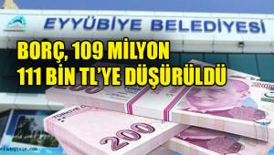 Eyyübiye, 3 ayda 2 milyon 797 bin TL borç ödedi