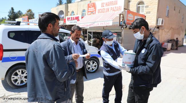Harran'da ücretsiz maske dağıtılıyor
