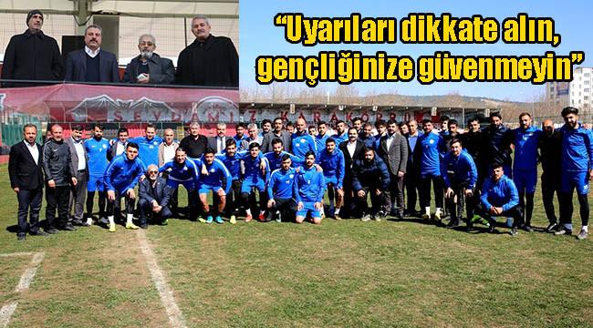 Karaköprü yönetiminden futbolculara çağrı