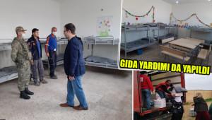 Okul, karantina hastanesine dönüştürüldü