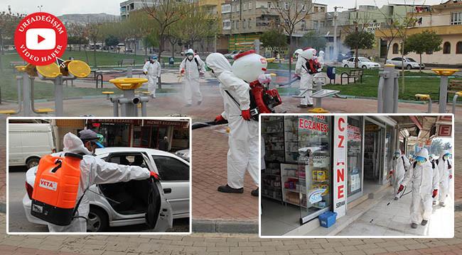 Parklar, sağlık merkezleri ve işyerleri dezenfekte ediliyor