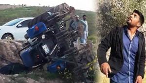 Traktör devrildi; 1 ölü