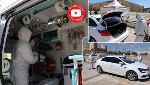 Urfa'da binlerce araç dezenfekte edildi