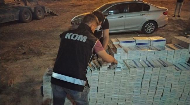 30 bin paket kaçak sigara ele geçirildi