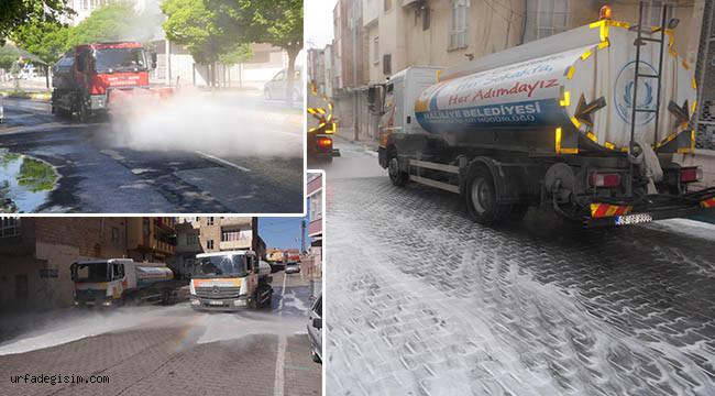 4 mahalle yıkanıp dezenfekte edildi