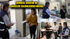 Büyükşehir'den salonlara maske dağıtımı