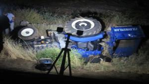 Gaziantep'te traktör devrildi; 1 ölü