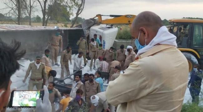 Göçmen işçileri taşıyan kamyon kaza yaptı; 23 ölü, 35 yaralı