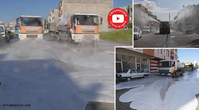 İki mahalle yıkanıp dezenfekte edildi