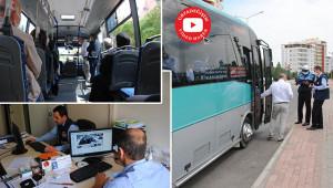 Özel halk otobüsleri denetlendi