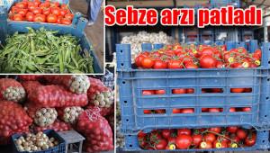 Sebze fiyatları halde düştü, marketlerde fırladı