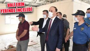 Tel Abyad'da kamu binaları yapılıyor