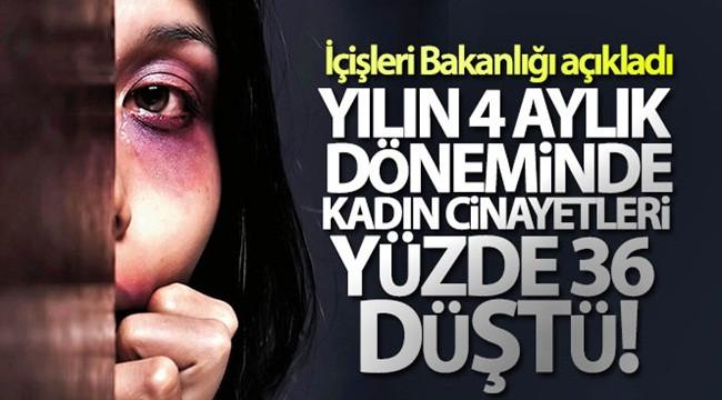 Türkiye'de kadın cinayetleri yüzde 36 oranında düştü