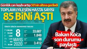 Türkiye'de virüsten can kaybı 3 bin 689