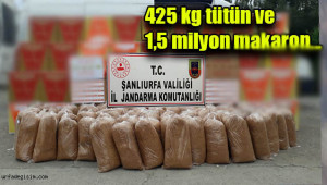 Urfa'da kaçak tütün ve makaron ele geçirildi