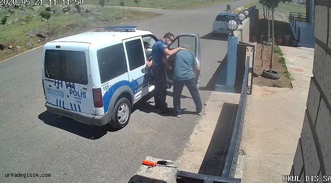 Urfa'da polis ile öğretmenin maske gerginliği