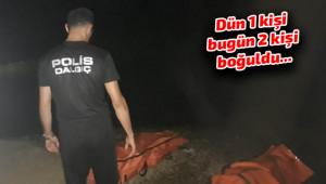 Baraj göletine giren iki genç boğuldu