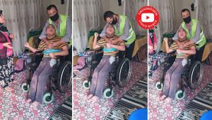 Engelli çocuğa çifte mutluluk yaşattılar