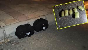 Fünye ile patlatılan çantalardan uyuşturucu çıktı