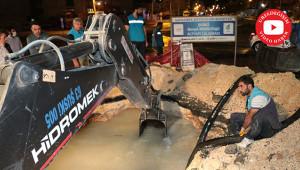 İsale hattı arızalandı, ekipler müdahale etti