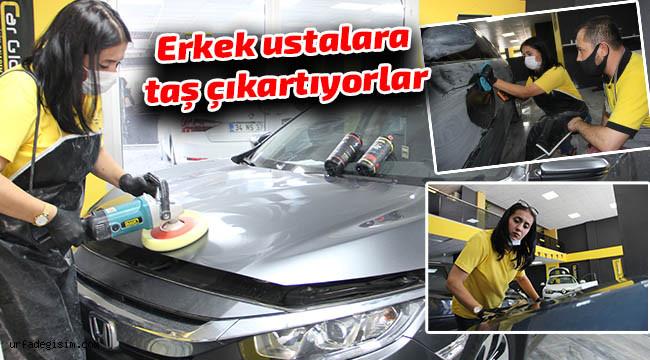 'Kadınsın araç boyama işinden anlamazsın'