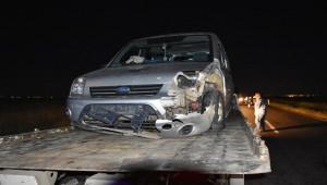 Şanlıurfa'da takla atan otomobile hafif ticari araç çarptı: 6 yaralı