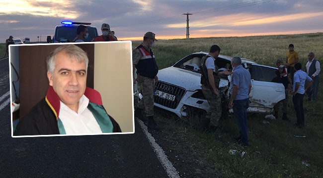 Urfa Barosu Siverek temsilcisi kazada hayatını kaybetti