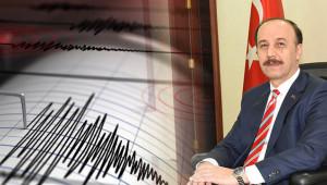 Vali Erin'den deprem açıklaması