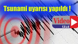 7.8 büyüklüğünde deprem  korkuttu