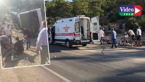 Askerleri taşıyan otobüs devrildi: 4 şehit, 27 yaralı