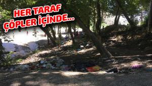 Doğa harikası çöplerden geçilmiyor