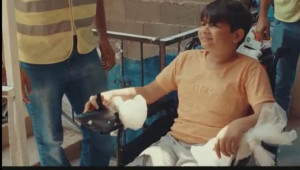 Engelli çocuğa doğum günü sürprizi