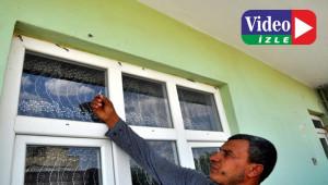 Sınırdan gelen kurşunlar evlere isabet etti