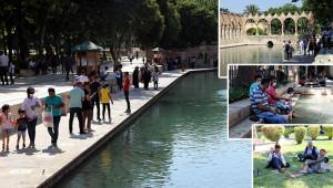 Urfa'da kavurucu sıcaklar etkili oluyor