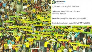 Urfaspor yardım kampanyası başlattı