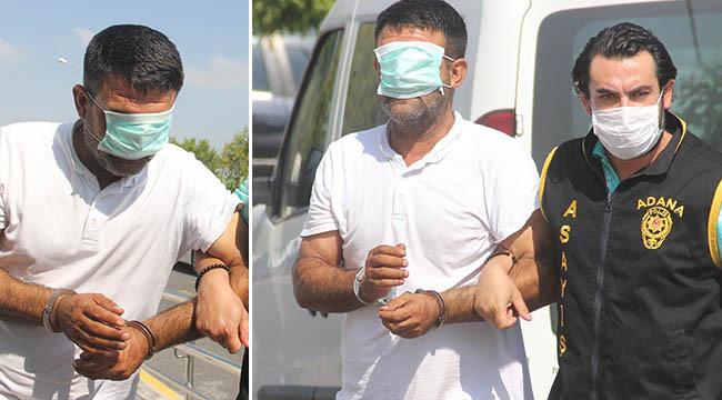 Yakalanan dolandırıcı yüzünü maskeyle kapattı