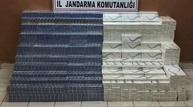 Binlerce paket kaçak sigara yakalandı