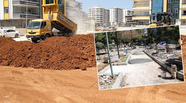 Haliliye'de park açma çalışmaları sürüyor
