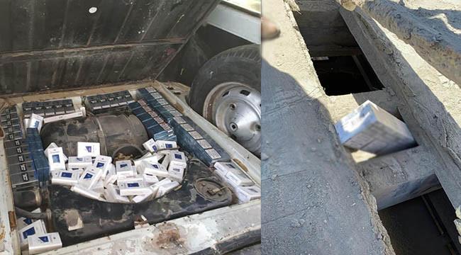 Suriye'den gelen araçta kaçak sigara