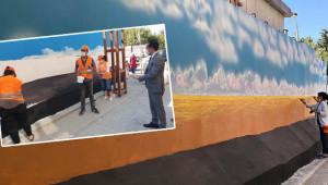 Suruç'ta sokaklar grafitiyle renkleniyor