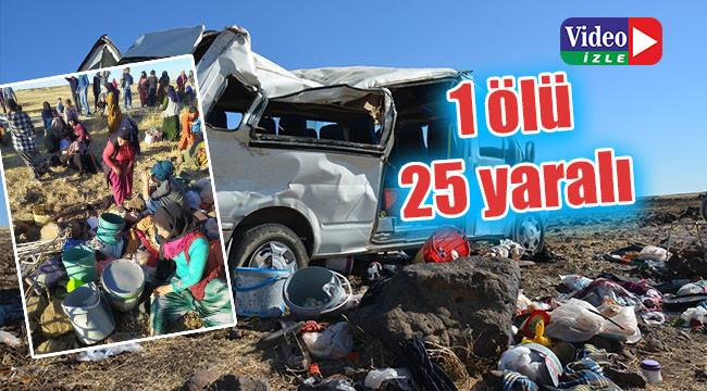 Urfa'da tarım işçilerini taşıyan minibüs devrildi