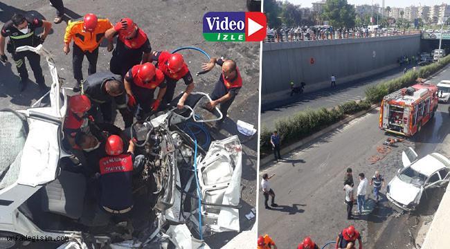 Abide Kavşağında kaza: 2 ölü, 3 yaralı