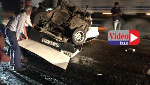 Devrilen araçtaki sürücü hayatını kaybetti