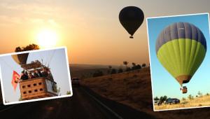 Balonlar Göbeklitepe semalarında