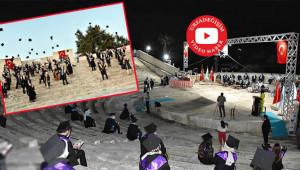 Harran'da mesafeli mezuniyet töreni