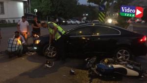Malatya'da otomobil ile motosiklet çarpıştı: 1 yaralı