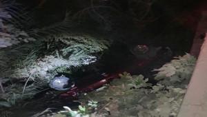 Otomobil sulama kanalına uçtu; 1 ölü, 2 yaralı