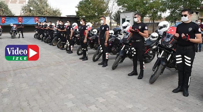 Yeni motosikletli polis timleri göreve başladı